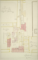 [Plan of St James's Palace with the intended addition in the reign of King William III]